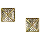 Vince Camuto Goldtone and Crystal Pyramid Stud Earrings in Gold