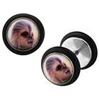 Disney Disney Episode 7 Chewbacca Graphic Stainless Steel Screw Back Earrings