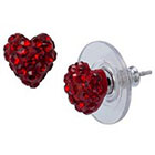 Target Sterling Silver Heart Stud Earring - Red