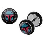 Disney Star Wars Boba Fett Stainless Steel Screw Back Earrings