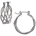 Target Fashion Hoop Earrings - Silver