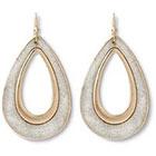 Target Glitter Tape Teardrop Earrings - Silver/Gold