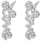 Journee Collection 3/5 CT. T.W. Round Cut CZ Basket Set Love Stud Earrings in Sterling Silver - Silver