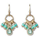 Target S Beaded Drop Earrings - Green/Gold