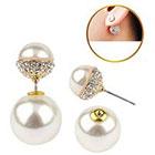 Target Zirconite Women's Zirconite Pearl/Crystal Peekaboo Earring - Peach