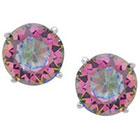 Tressa Collection Mystic Topaz Cubic Zirconia Round Stud Earrings in Sterling Silver - 5mm