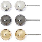 JCPenney SENSITIVE EARS Sensitive Ears 3-pr. Ball Stud Earring Set