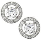 Tressa Collection Cubic Zirconia Round Halo Stud Earrings in Sterling Silver