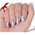 Amazon So Beauty Nail Art Polish Silver Metallic Foil Sticker Patch Wraps Tips 16pcs
