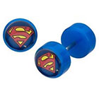 DC Comics DC Comics Superman Logo Acrylic and Stainless Steel Screw Back Earrings - Blue