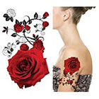 Amazon.com Supperb Temporary Tattoos - Red Roses