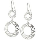 Target Silver Plated Open Filigree Double Drop Earrings - Silver