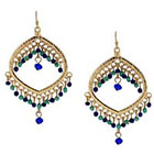 Target Dangle Earrings - Gold/Blue