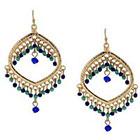 Target Dangle Earrings - Gold/Blue