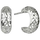 Target Filigree Cut Out Half Hoop Earring - Silver