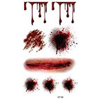 Amazon.com Supperb Temporary Tattoos - Bleeding Wound, Scar Halloween Halloween Tattoos