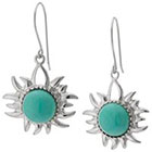 Target Sterling Silver Sun Drop Earrings with Stone - Turquoise