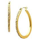 Target Fashion Hoop Earrings - Gold