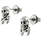 Target Silver Skull and Crossbone Stud Earrings