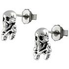 Target Silver Skull and Crossbone Stud Earrings