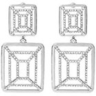 Journee Collection 5 3/8 CT. T.W. Round Cut CZ Pave Set Dangle Earrings in Brass