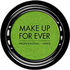 Make Up For Ever Artist Shadow Eyeshadow and powder blush in ME338 Acidic Green (Metallic) eyeshadow