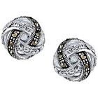 Target Silver Plated Marcasite and Crystal Post Earring - 11.4mm