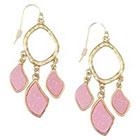 Target Zirconite Druzy Chandlier Earring - Pink