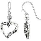 Target Marcasite Heart Earring - Silver