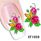 Amazon Dalin 3D Nail Art Tips Stickers False Flower Nail Design Manicure Decals Nail Art Water Nail Art Decal / Tattoo / Sticker XF1059