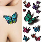 Amazon.com Generic 1 Sheet 3D Butterfly Tattoo Decals Body Art Decal Flying Butterfly Waterproof Paper Temporary Tattoo