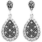 Target Marcasite and Crystal Earring - Silver