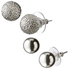 Target Round Textured Stud Earrings - Shiny