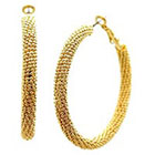 Target Fashion Hoop Earrings - Gold