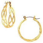 Target Braided Hoop Openwork Earrings - Gold
