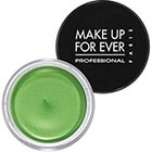 Make Up For Ever Aqua Cream in 23 Acid Green bright lime green shimmer