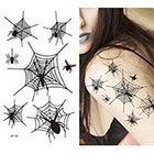 Amazon.com Supperb Temporary Tattoos - Spiders and Spider Net Halloween Tattoos