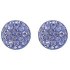 Target Sterling Silver 9mm Crystal Half Ball Stud Earrings