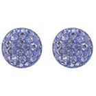 Target Sterling Silver 9mm Crystal Half Ball Stud Earrings