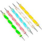 Amazon DragonPad 5pcs 2-ways Acrylic Uv Gel Nail Art Design Tips Dotting Painting Brush Pen Set