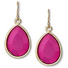 Target Small Faceted Teardrop Earring - Pink/Gold