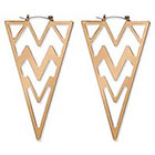 Natasha Accessories Large Triangular Earring - Gold (3