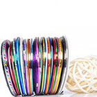 Beaute Galleria 30 pcs Mixed Colors Rolls Striping Tape in