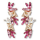 Target 8OR 8 Other Reasons Ear Cuff Earrings with Glass Stones in Gold Setting - Pink