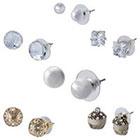 Target 6 Piece Assorted Designs Stud Earrings Set - Multicolor