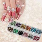 Amazon 1200pcs New Nail Art Rhinestones Glitters Acrylic Tips Decoration Manicure Wheel