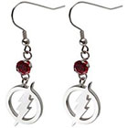 DC Comics Logo Women's DC Comics The Flash Logo Stainless Steel Dangle Earrings