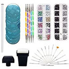 Amazon Nail Art Designs Set with 2 Boxes of 1500 Gemstones / Crystals / Gems, Stampers / Scrapers, Stamping Plates, Dotting Tools, Nails Brushes and Rhinestones Decorations Picker Pencil