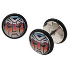 Hasbro Transformers Graphic Stainless Steel Screw Back Earrings