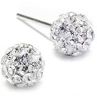 JCPenney STERLING SILVER EARRINGS Crystal Sterling Silver Ball Stud Earrings